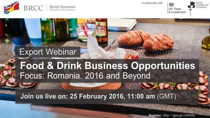 Webinar - Food & Drink Export Opportunities in Romania @ Online