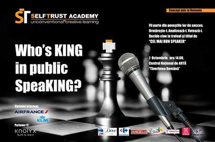 """Who's King in Public Speacking? @ Centrul National de Arta """"Tinerimea Romana""""   București   Municipiul București   Romania"""