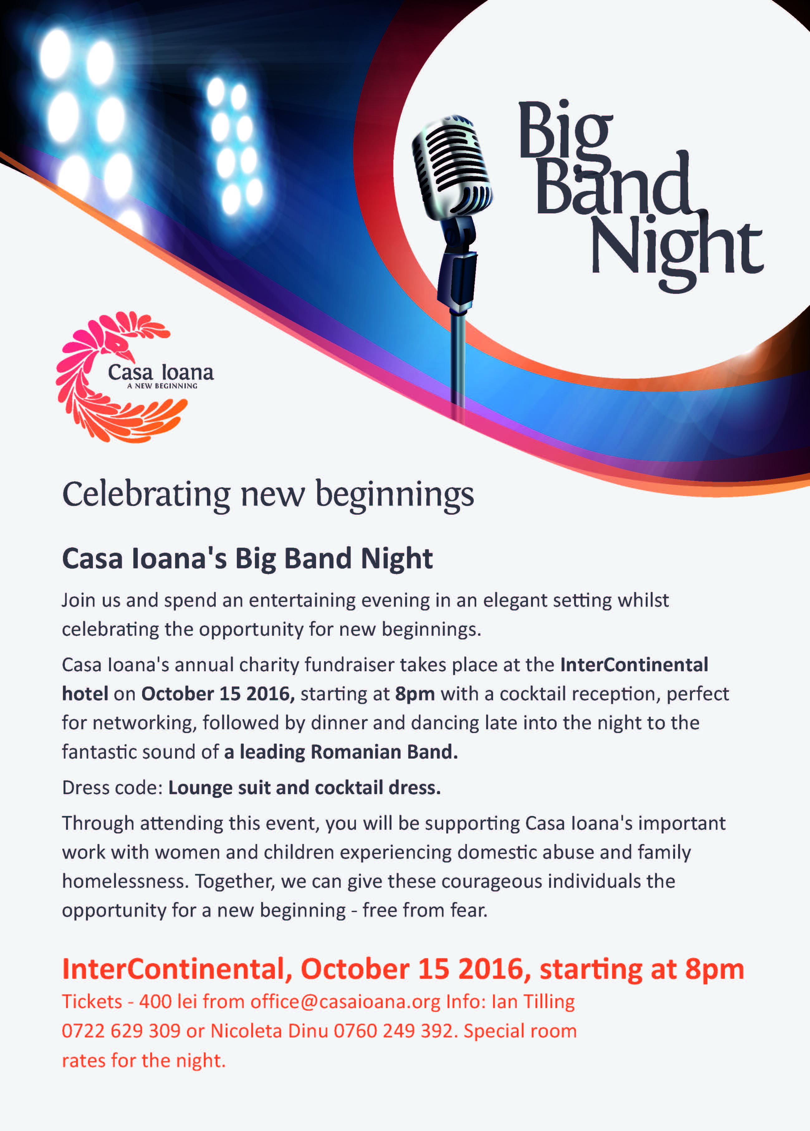 Casa Ioana's Big Band Night @ Intercontinental Hotel