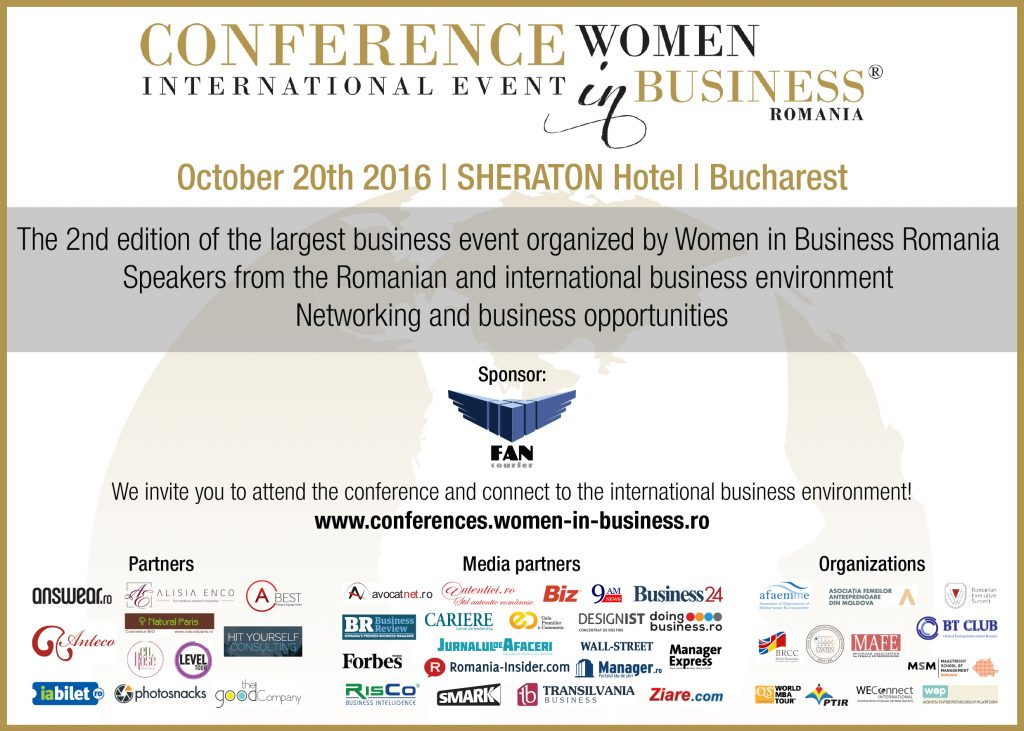 Business specialists are meeting at the second edition of the Women in Business International Conference 2016 @  Sheraton Hotel