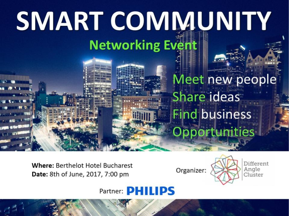 Smart Community Networking Event @ Berthelot Hotel