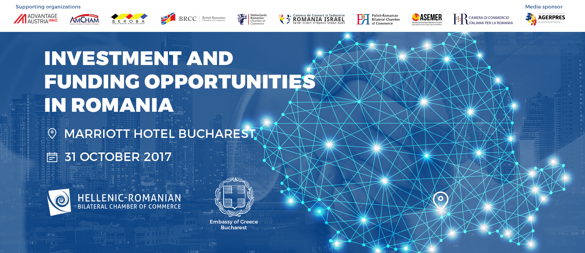 Investment and Funding Opportunities in Romania @ JW Marriott Bucharest Grand Hotel