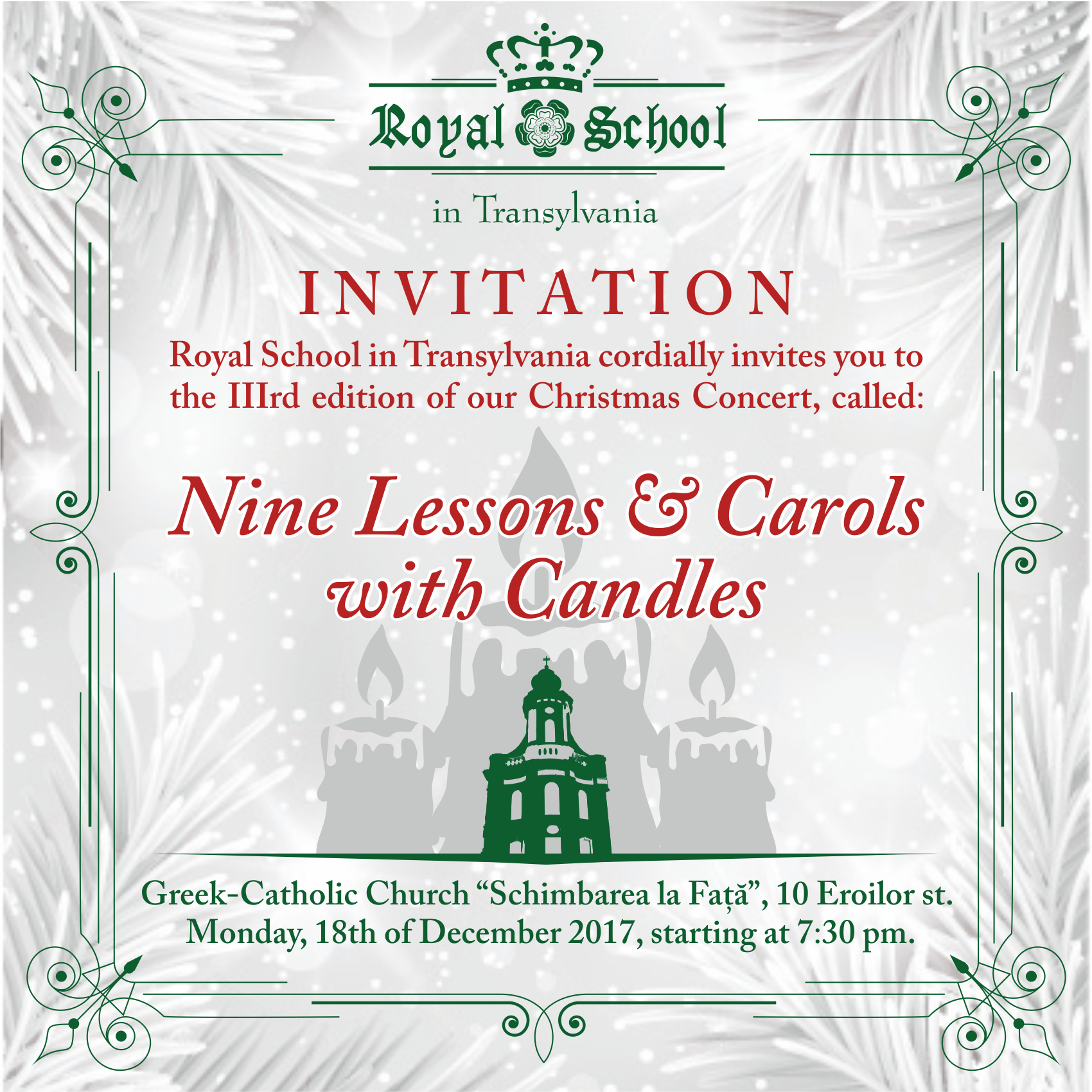 Royal School Christmas Carols @ Cluj-Napoca | Județul Cluj | Romania