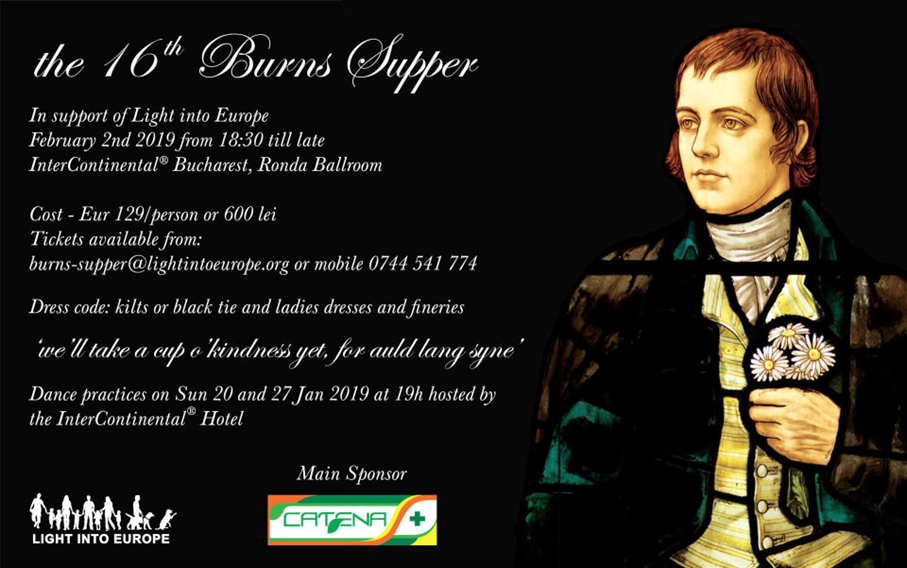 The 16th Burns Supper @ InterContinental Hotel Bucharest, Ronda Ballroom