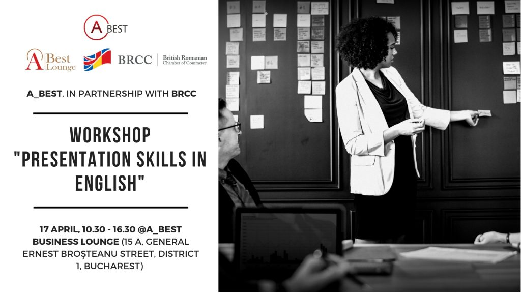 "Workshop: ""Presentation Skills in English"" @ A_BEST Business Lounge"