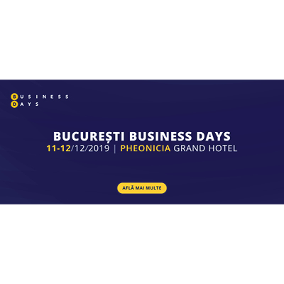 Bucharest Business Days 2019!